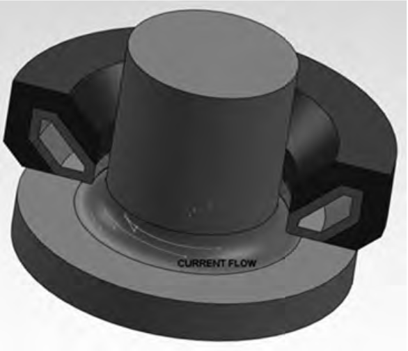 Fluxtrol | Design and Fabrication of Inductors for Induction Heat Treating - Fig. 10 Encircling drawing for spindle